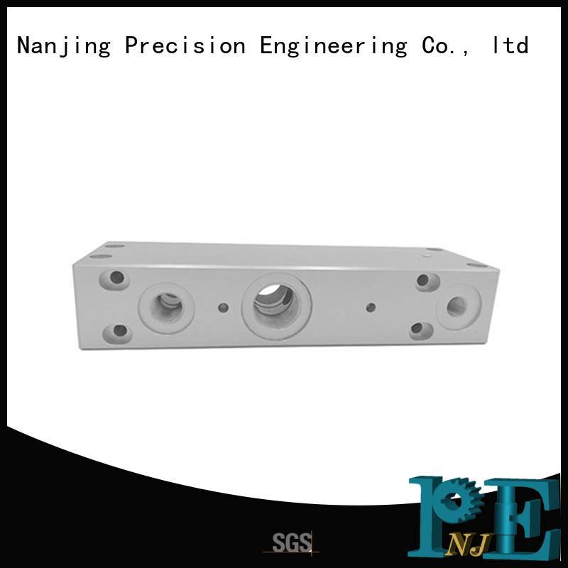 connector stainless steel cnc machining services air for industrial automation NJPE