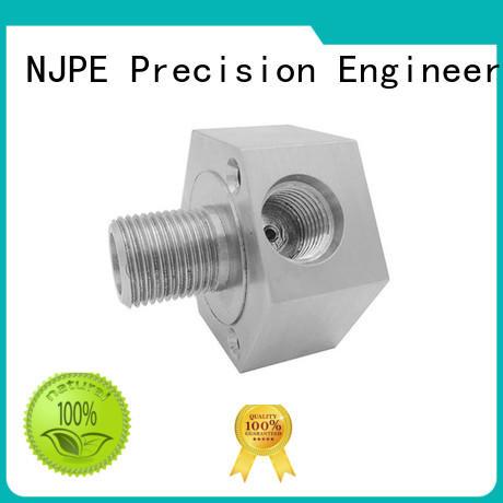 NJPE steel aerospace precision machining factory for air valve