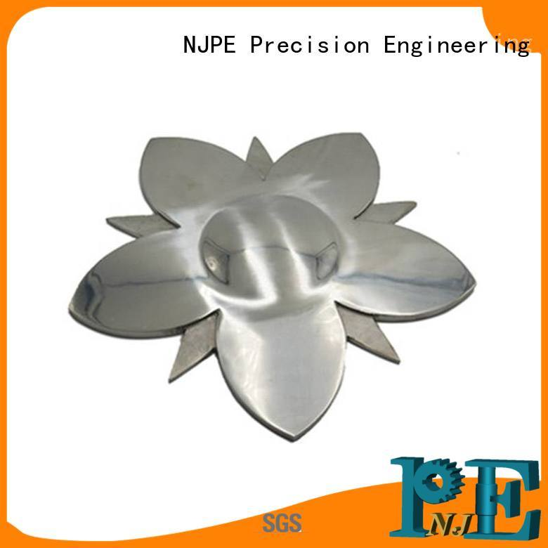NJPE in different shapes cnc haas marketing for industrial automation