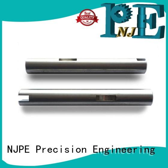 High precision machine parts shaft with keyway