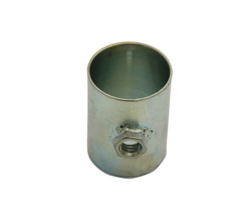 OEM steel fabrication sleeve with welded nut