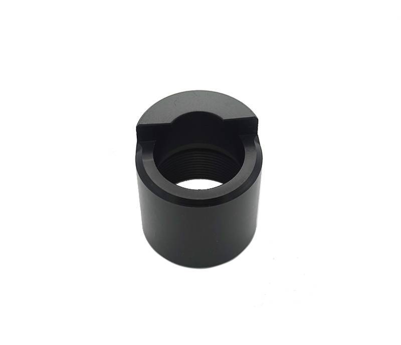 cnc components black upvc connecting part