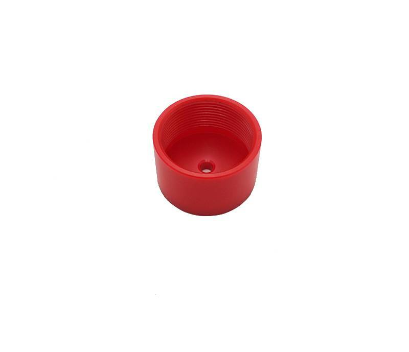cnc machining china Custom 25*40*40mm red UPVC lid high quality