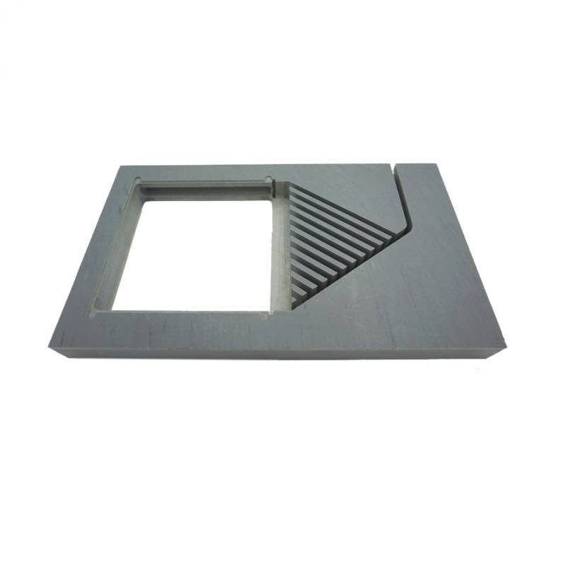 Plastic ABS machining milled plate for lab equipment